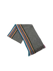 Paul Smith - Grey striped scarf