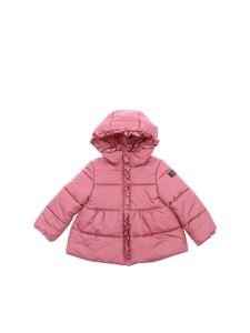 Il Gufo - Pink down jacket with ruffles