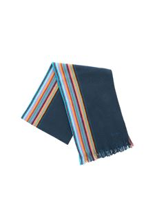 Paul Smith - Dark green striped scarf