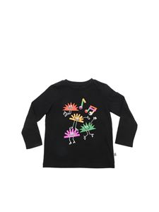 Stella McCartney Kids - T-shirt nera con stampa ricci