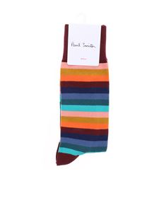 Paul Smith - Calzini bordeaux con motivo Simba Stripes