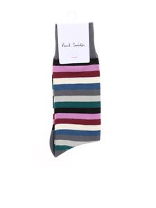 Paul Smith - Calzini grigi con motivo a righe