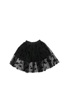 Stella McCartney Kids - Minigonna in tulle nero con stelle