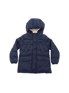 Save the duck - Blue down jacket with inner teddy
