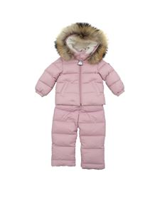 Moncler Jr -  Tuta New Mauger lilla in piumino
