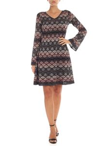 M Missoni - Grey and pink lamé knit dress