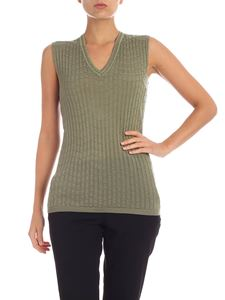 M Missoni - Viscose and  wool top in green color