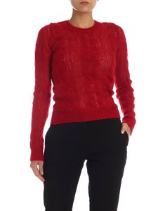 N° 21 - Red openwork pullover