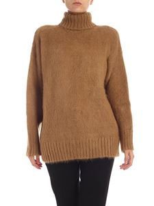 N° 21 -  Wool and  mohair turtleneck in camel color