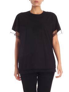 N° 21 - Black T-shirt with tulle insert