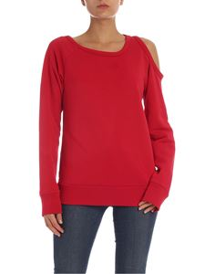 N° 21 - Red sweatshirt with uncovered shoulder
