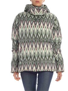 M Missoni - Green chevron printed down jacket