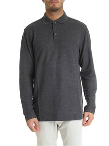 Z Zegna - Long-sleeved polo in grey melange