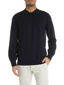 Z Zegna - Long sleeve polo in blue