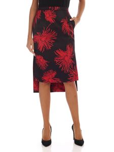 N° 21 - Black skirt with red floral print
