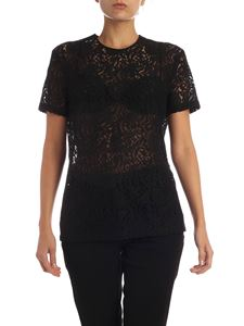 N° 21 - Lace T-shirt with jeweled patch