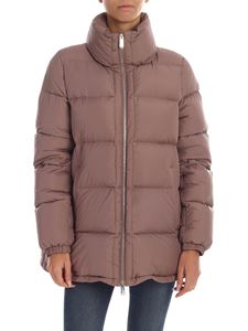 ADD - Down jacket in mauve color with metal logo