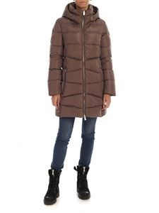 ADD - Brown down jacket with removable hood
