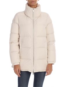 ADD - Down jacket in ivory color with metal logo