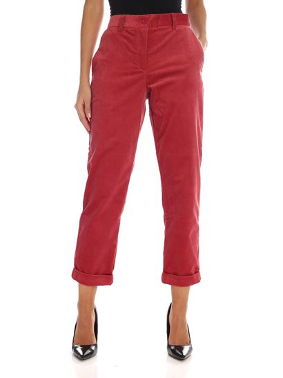 PS by Paul Smith - Pantalone in corduroy rosso
