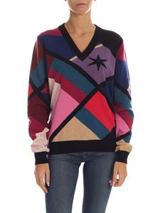 PS by Paul Smith - Multicolor pullover with geometric inlay