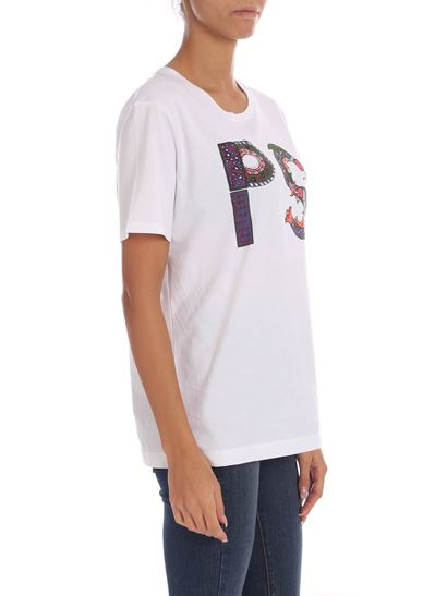 PS by Paul Smith - T-shirt bianca con stampa logo