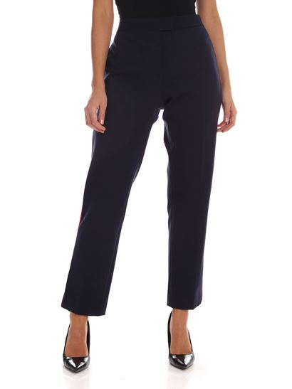 PS by Paul Smith - Pantalone blu con bande rosse