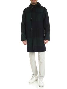 PS by Paul Smith - Checked coat in blue green and black
