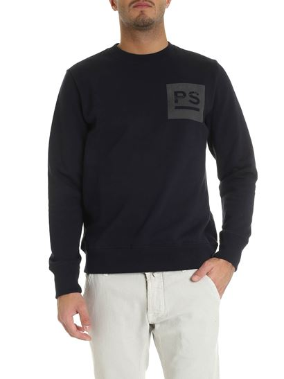 PS by Paul Smith - Felpa blu con stampa logo