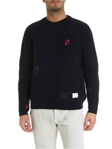 PS by Paul Smith - Pullover blu con patch