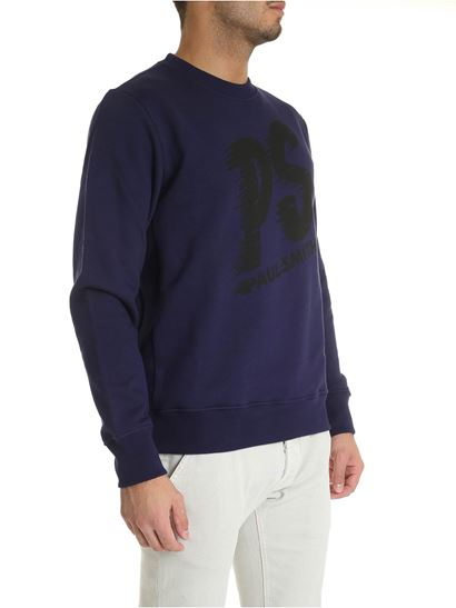 PS by Paul Smith - Felpa viola con stampa logo nera