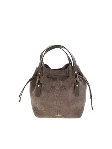 Hogan - Reptile print bag in mud color