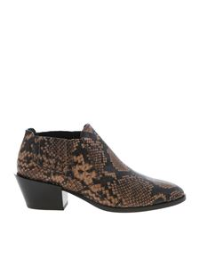 Tod's - Reptile print ankle boots in brown color