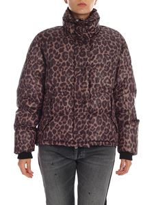 Golden Goose Deluxe Brand - Yuri animal print down jacket in shades of grey