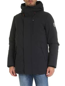 Save the duck - Black down parka with logo