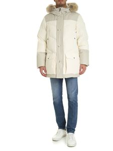 Woolrich - Arctic parka in cream and ecrù color