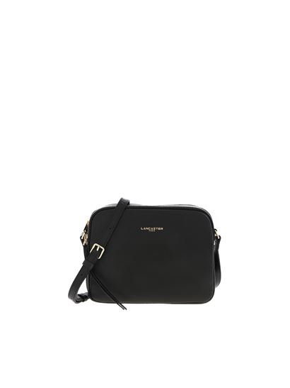 Lancaster Paris - Shoulder bag in black leather with logo detail