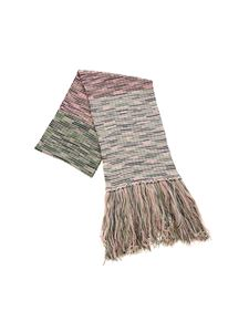 M Missoni - Green blue and pink knitted scarf