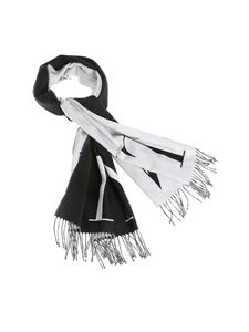Valentino - VLTN scarf in black and white