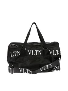 Valentino - Travel bag in black with VLTN ribbon handles