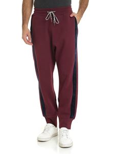 Vivienne Westwood  - Wine-colored pants with blue edges