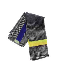 Faliero Sarti - Fluo scarf in black and white