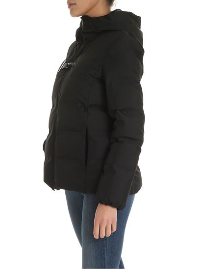 online store 5a0d2 79c01 Toggle hooded down jacket in black