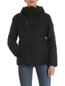 Fay - Toggle hooded down jacket in black