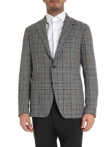 Tagliatore - Prince of Wales jacket in grey black and brown