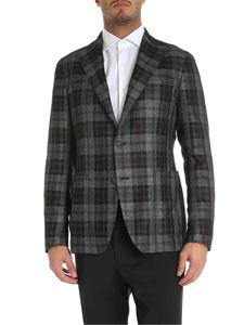 Tagliatore - Grey and brown checked single-breasted jacket
