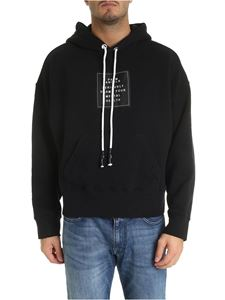 Palm Angels - Black hoodie with logo patch
