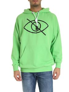Palm Angels - Sensitive Content printed hoodie in green