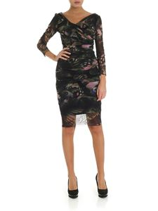 Fuzzi - Black tulle dress with butterfly print
