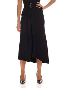 Fuzzi - Black skirt with front vent
